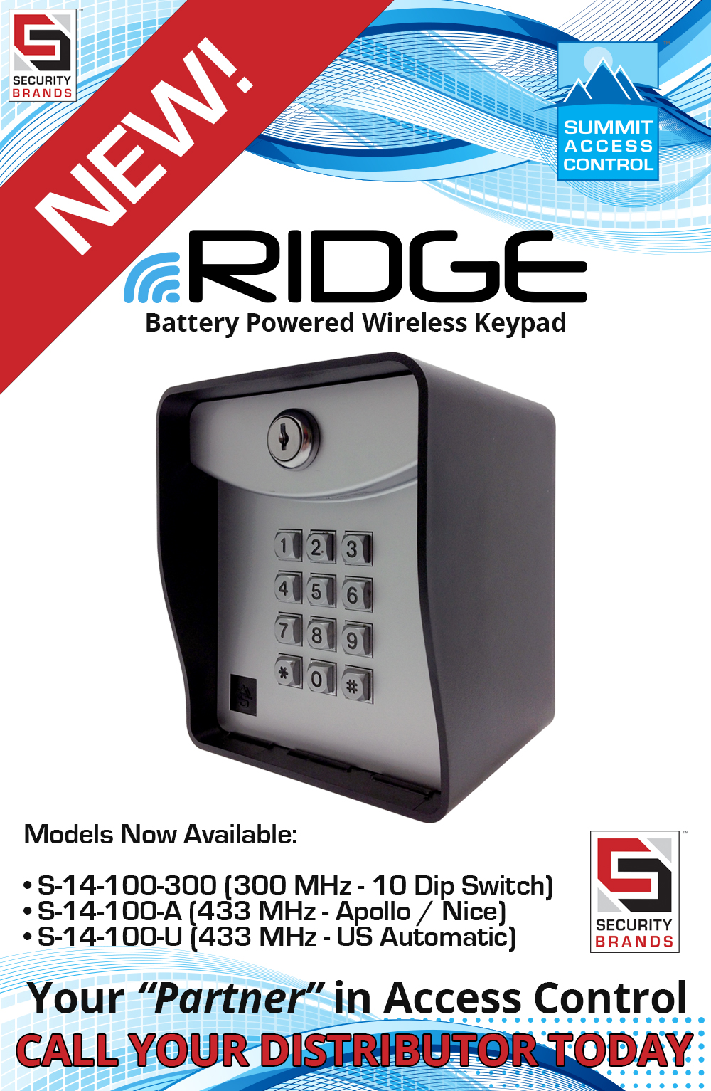 Security Brands, Inc. Introduces a new battery powered wireless keypad