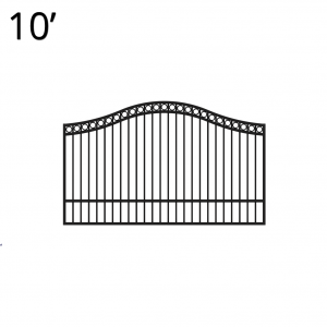 KIDEN60E10S-estate-gate-10-feet-single-denali-front