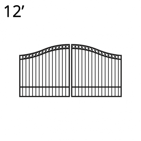 KIDEN60E12D-estate-gate-12-feet-double-denali-front