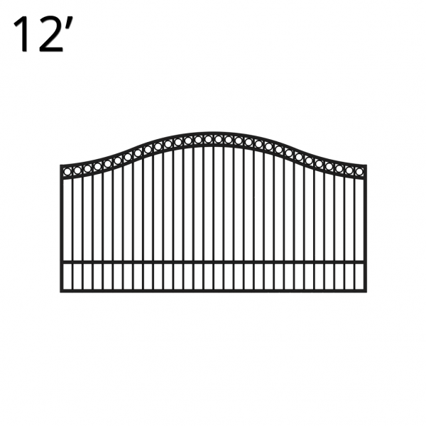 KIDEN60E12S-estate-gate-12-feet-single-denali-front
