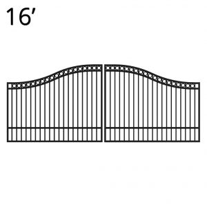 KIDEN60E16D-estate-gate-16-feet-double-denali-front