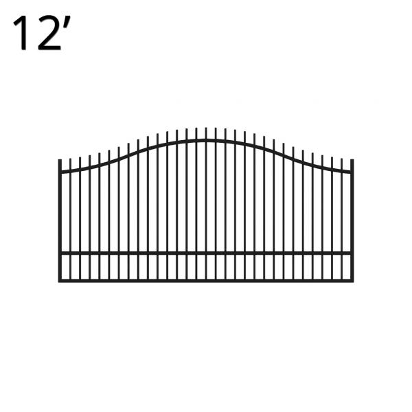 KIREG60E12S-estate-gate-12-feet-single-regal-front