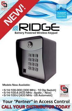 Introducing RIDGE LT —Battery-Powered Wireless Access Control System