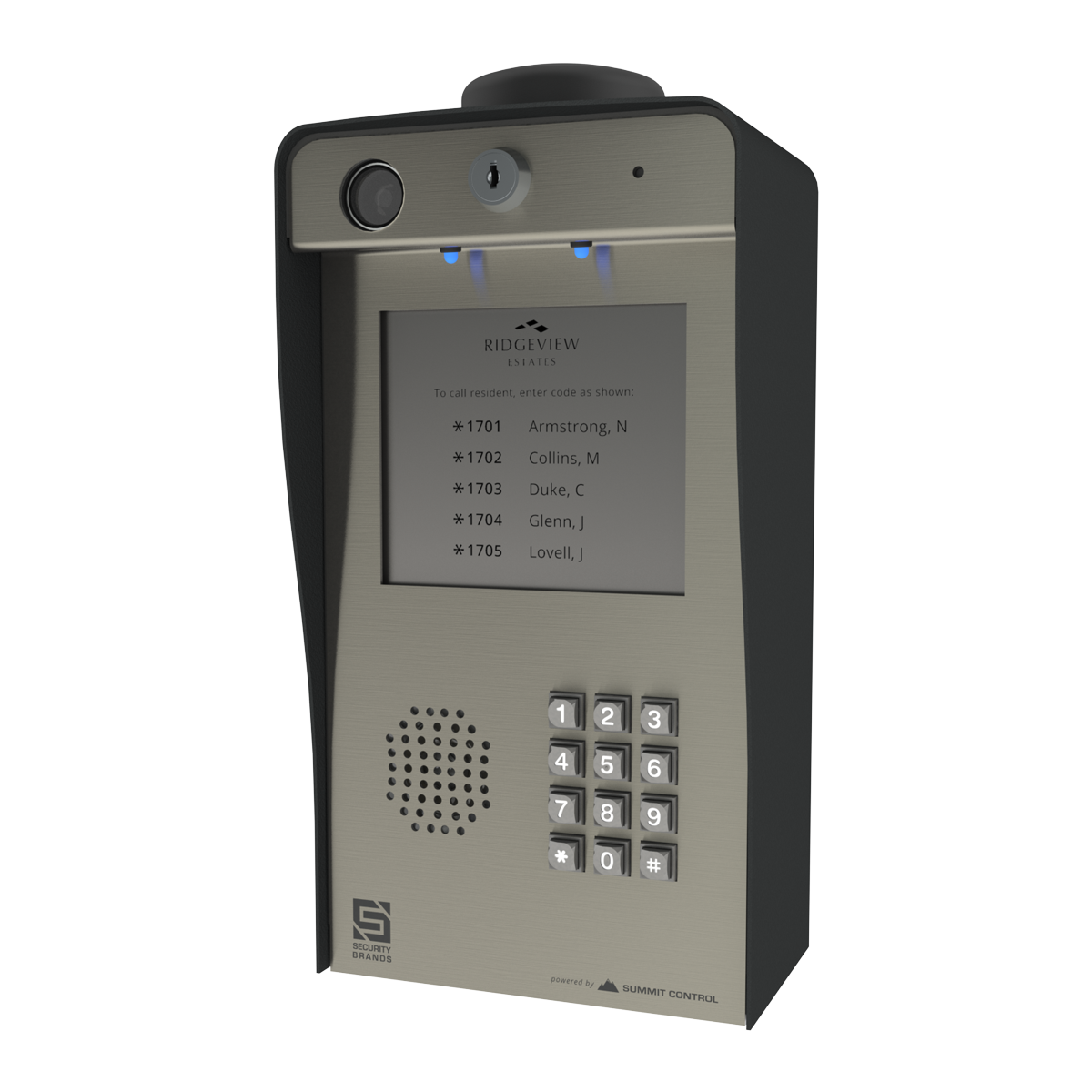 ascent x2 cellular multi tenant telephone entry system with keypad